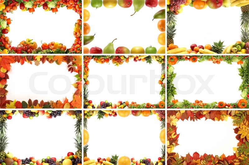 Different natural frames over white background | Stock Photo | Colourbox