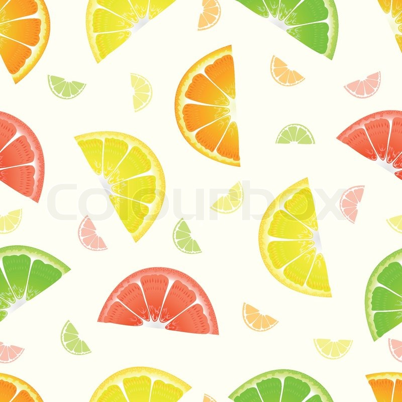 Orange Fruit Slice Package Design Colorful Pattern Vector
