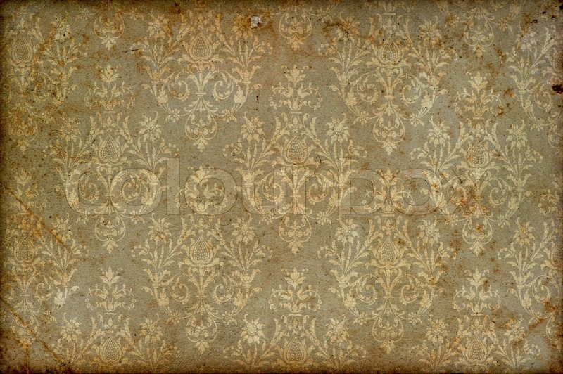 Old vintage wallpaper grunge background stock photo for Wallpaper home vintage