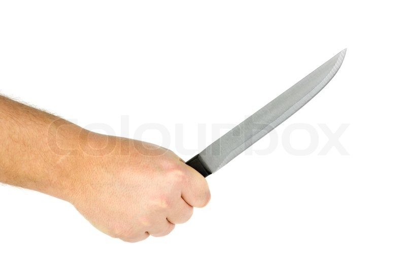 hand with knife | stock photo | colourbox