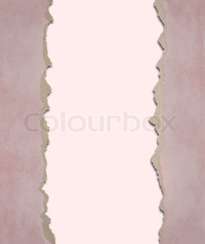 Background from a paper with the torn edges, stock photo