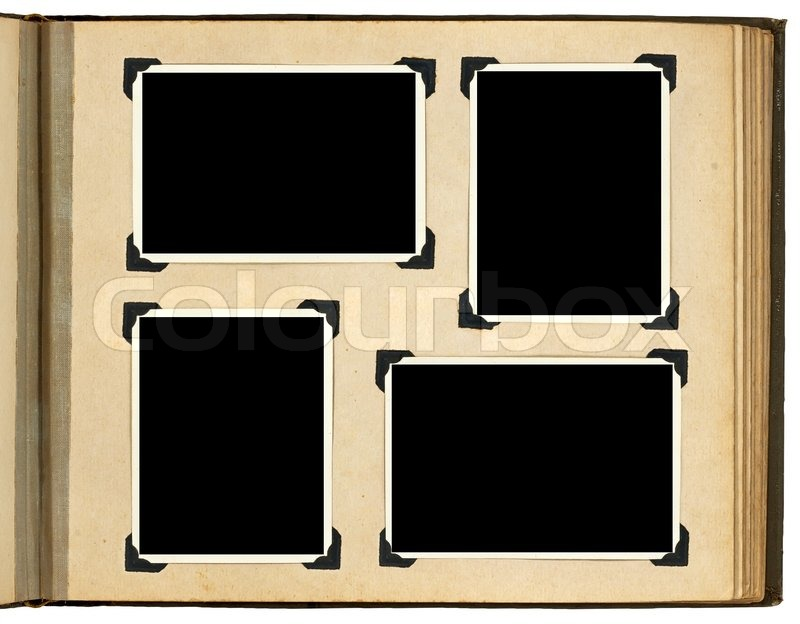 page of vintage photo album with photo frames stock photo colourbox. Black Bedroom Furniture Sets. Home Design Ideas