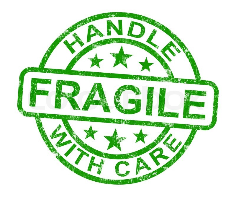 Fragile Stamp Shows Breakable Products | Stock Photo ...