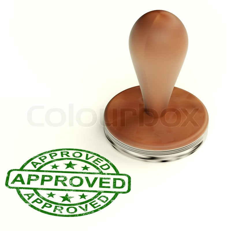 Stock image of 'Approved Stamp Shows Quality Excellent Products'