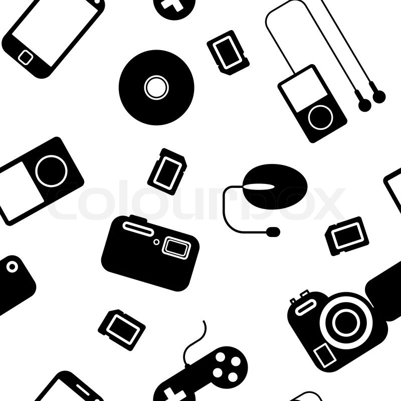seamless background iconwithelectronic gadgets