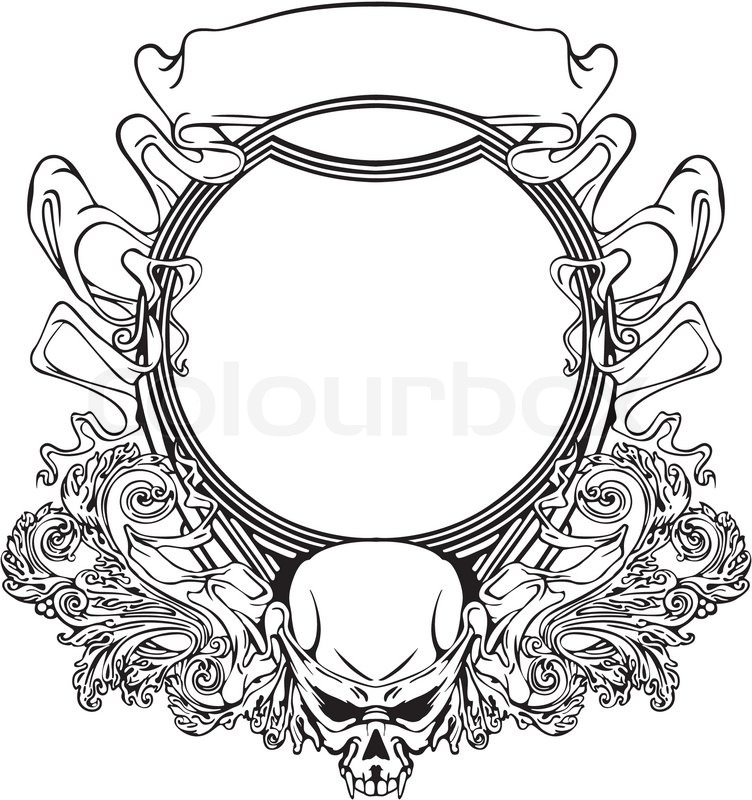 Frame with skull in Art Nouveau style | Stock Vector | Colourbox
