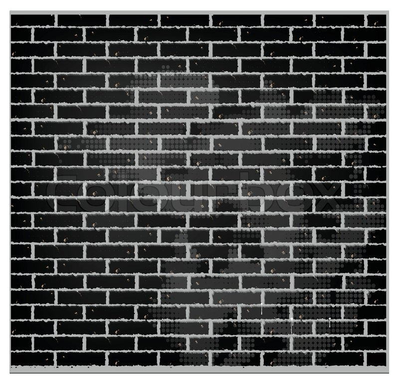 Pattern Texture Brick Wall Black Color
