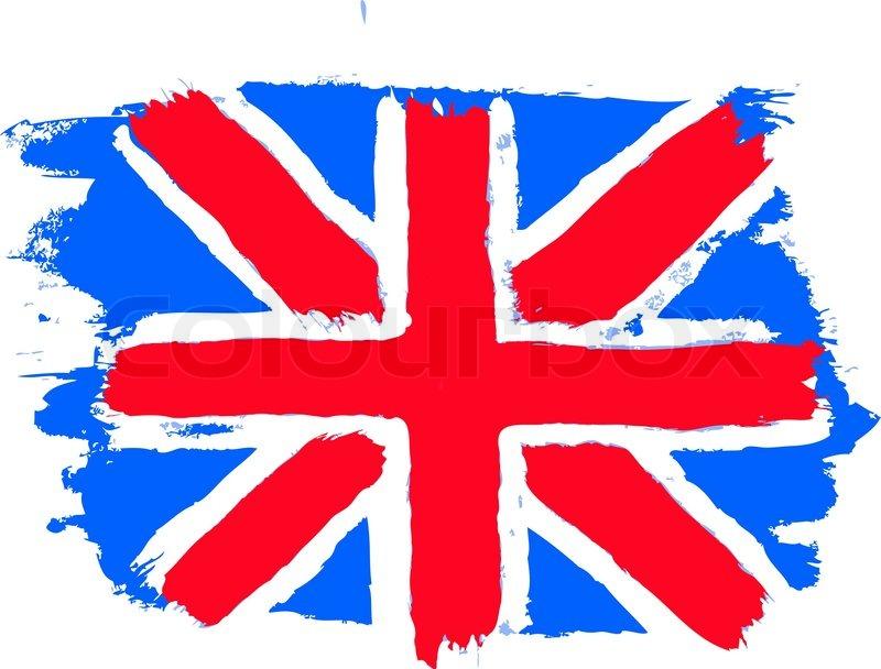flag of the united kingdom british flag stock vector colourbox rh colourbox com british flag vector eps british flag vector black and white