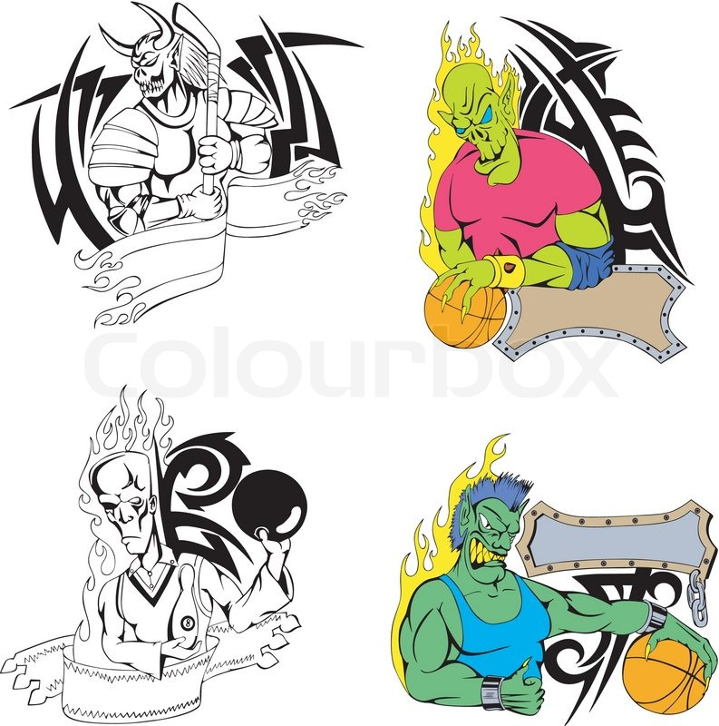 Sport-Monster-Vorlage | Vektorgrafik | Colourbox