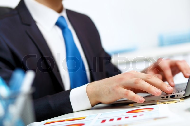 Stock image of 'Modern technologies in business'
