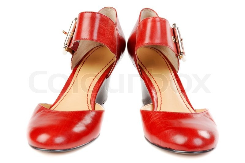 Fashionable women's red shoes | Stock Photo | Colourbox