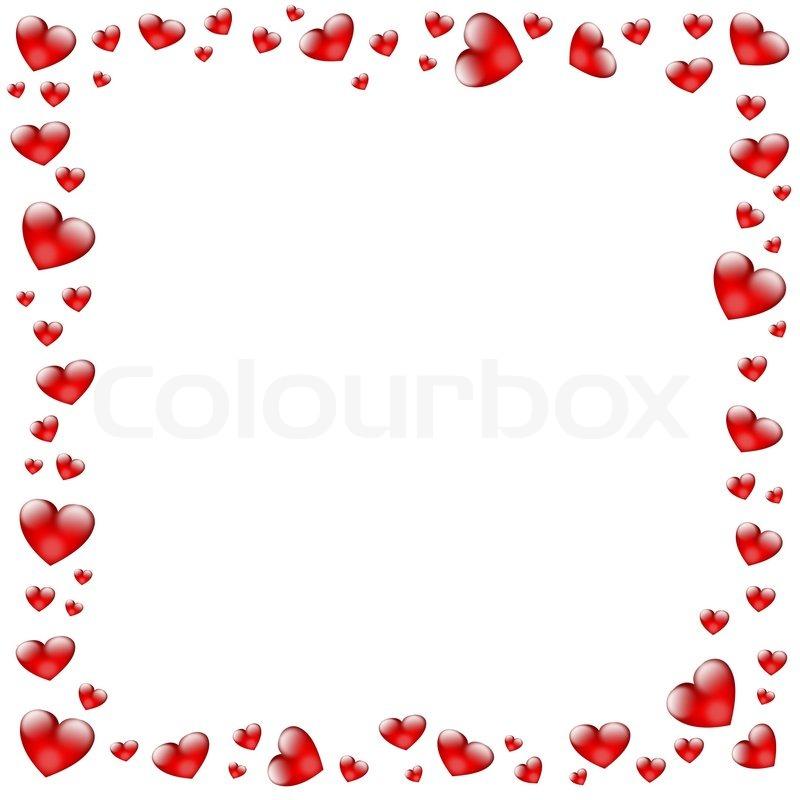 hearts frame stock photo colourbox