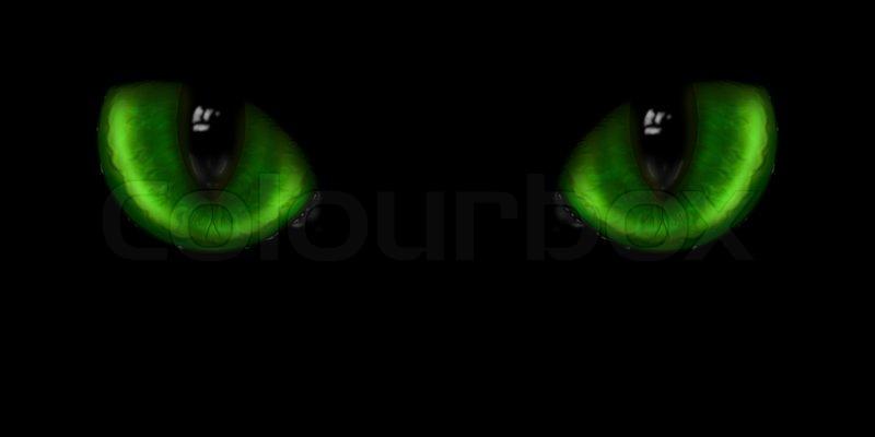 Dark Green Eye Cat