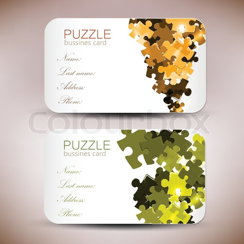 Modern business card set stock vector colourbox modern business card set vector colourmoves