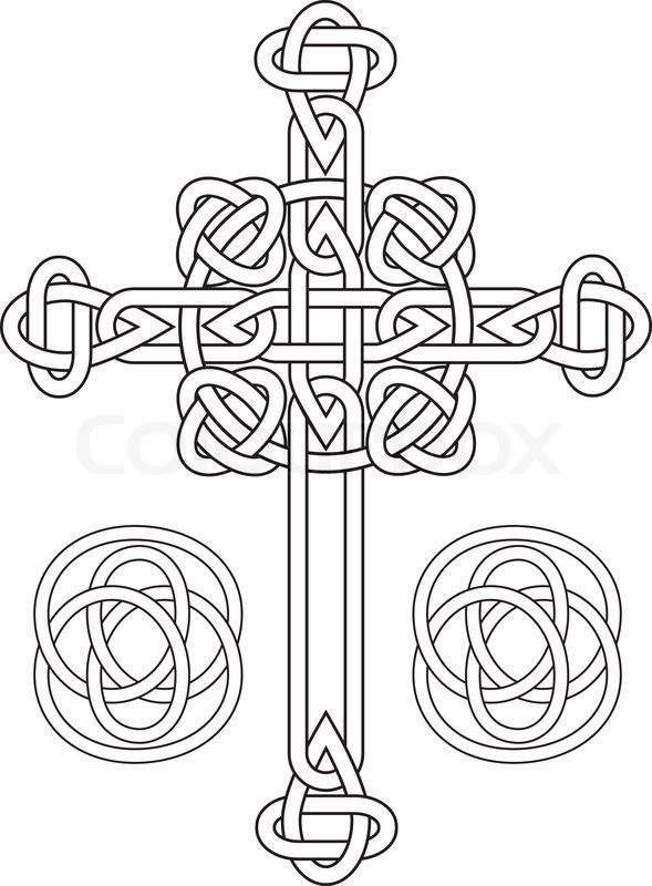 Tribal Cross Stencil