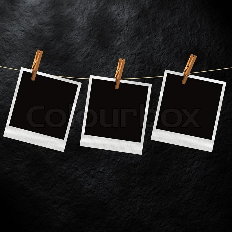 Old Polaroid Photo Template | Stock Photo | Colourbox