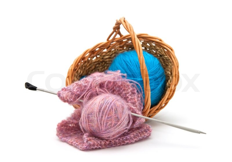 Yarn For Knitting With Knitting Needles Stock Image
