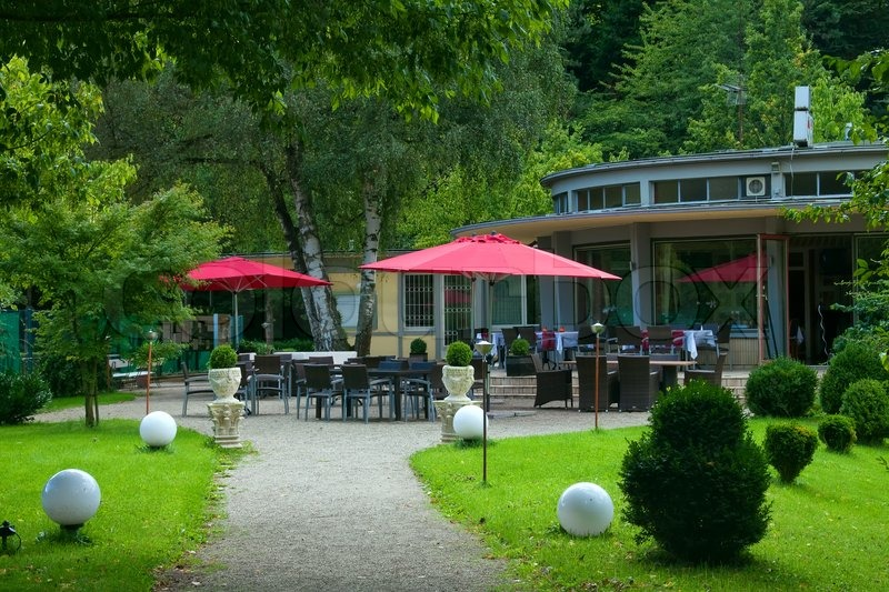Outdoor Cafe In The Park Europe Germany Baden Baden