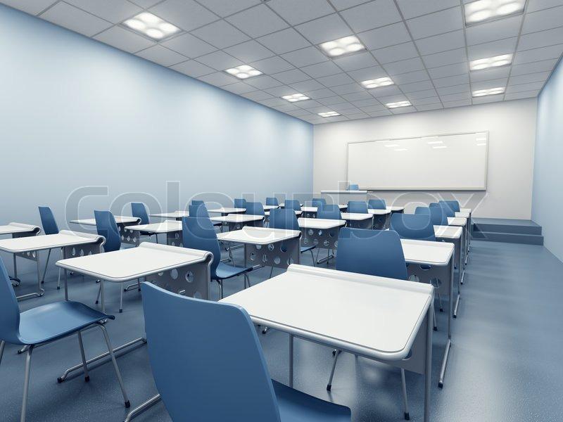 Moderne klassenzimmer interieur stockfoto colourbox for Stuhl design unterricht