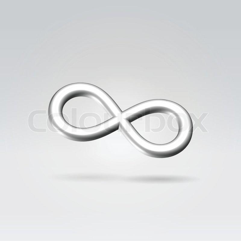 Silver Infinity Symbol Stock Vector Colourbox