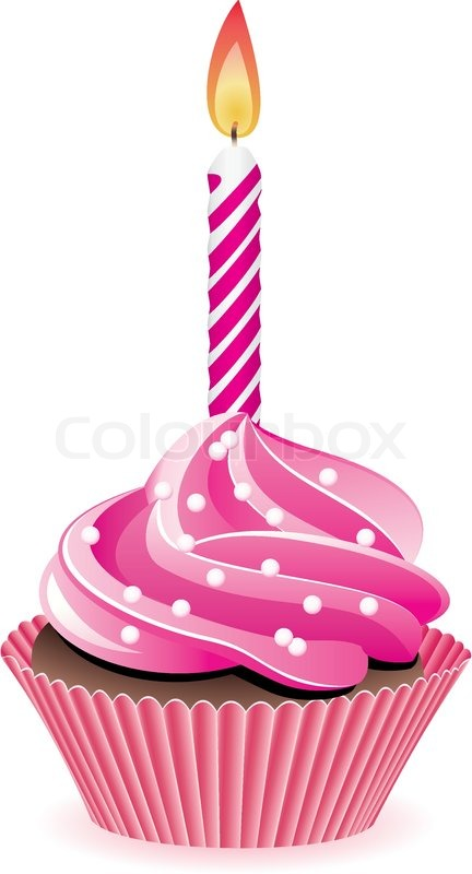 Birthday Cake Slice Candle Jpg