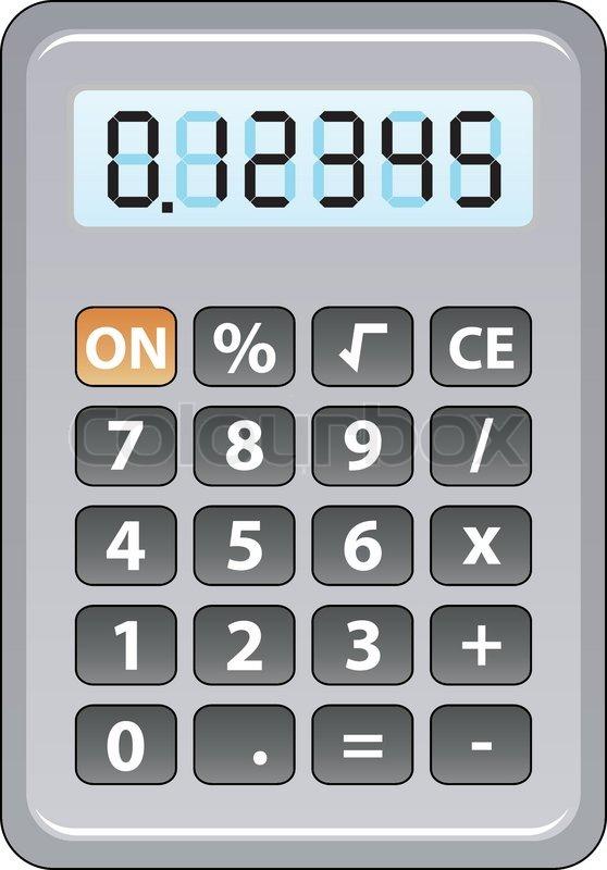 vector gray calculator stock vector colourbox