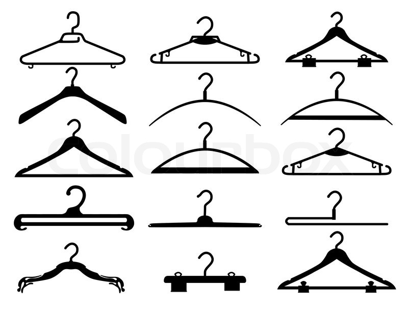 clothes rack vector - Clothes Tree