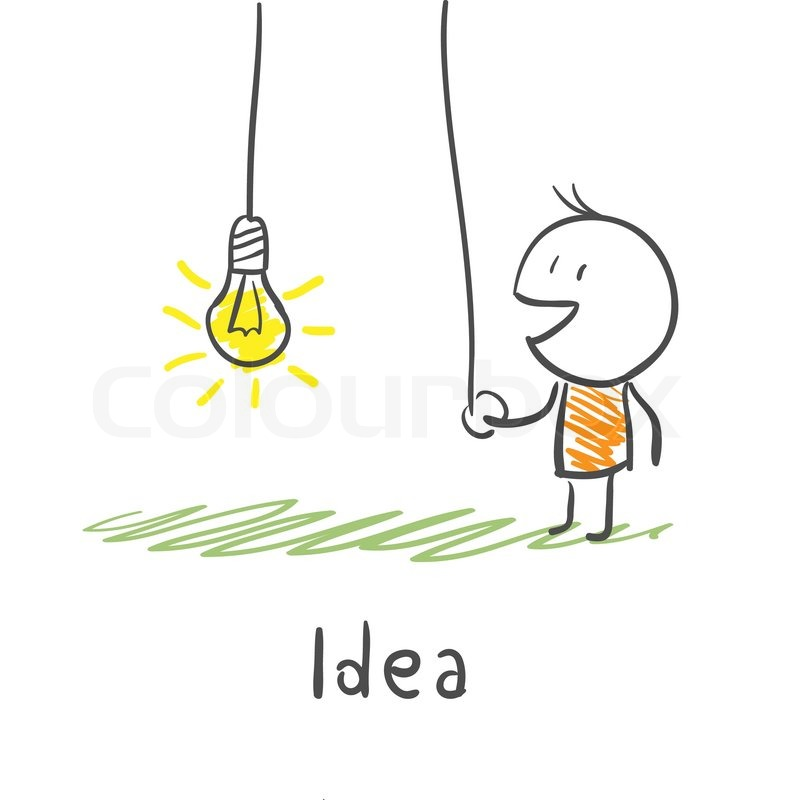 A Person Includes Light Bulb The Concept Of Idea Illustration