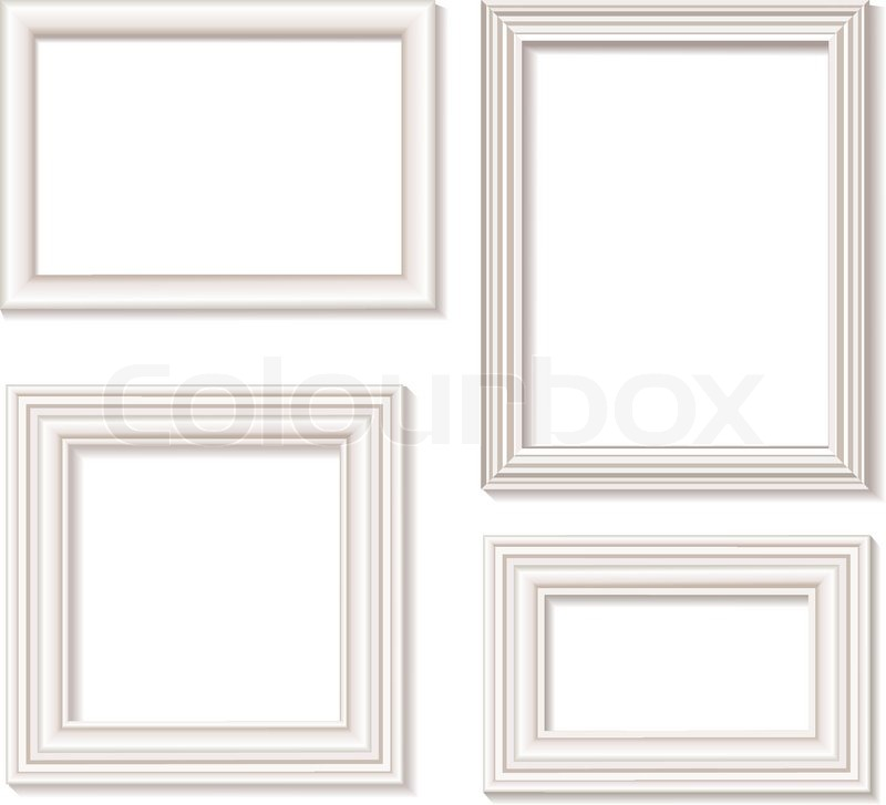 white picture frames stock vector colourbox - White Picture Frames