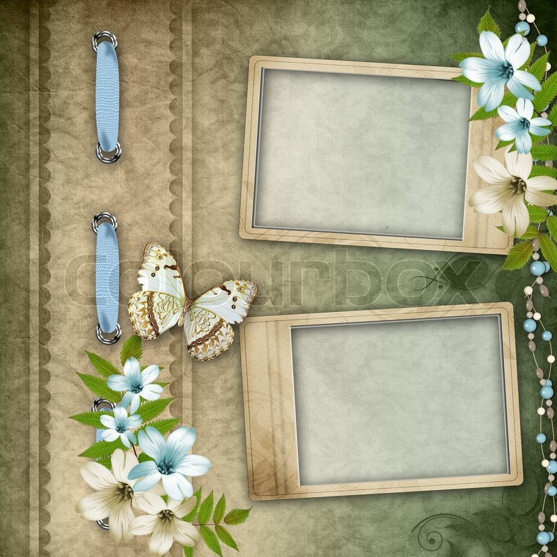 Two Frames On Vintage Background Stock Photo Colourbox