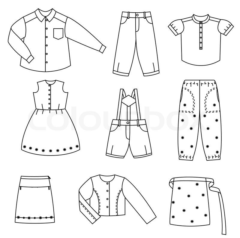 Children clothes | Stock Vector | Colourbox
