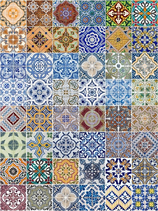 wall art design shop with Set Of 48 Ceramic Tiles Patterns From Portugal Image 4269872 on Set Of 48 Ceramic Tiles Patterns From Portugal Image 4269872 further Leftover Paint Storage moreover Backyard Studio Modern Exterior Seattle besides Bunting Contrast Golds Gym 197387829 also Black And Red Aged Brick Wall Mural.