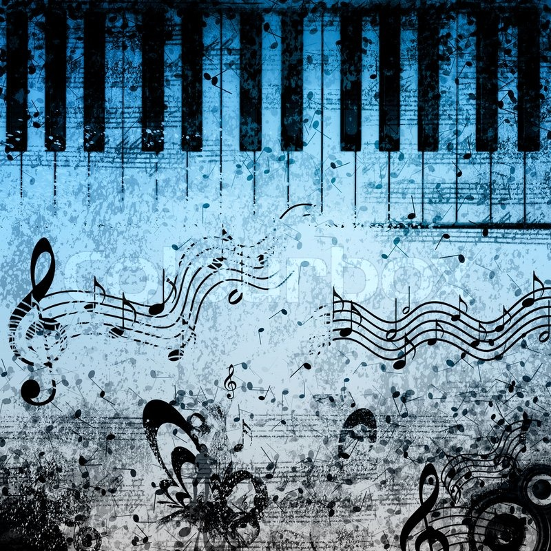Music notes background stock photo colourbox music notes background stock photo voltagebd Image collections