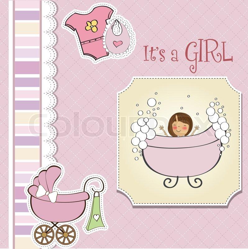 Clip Art Free Baby Girl Baby Girl Announcement Clip