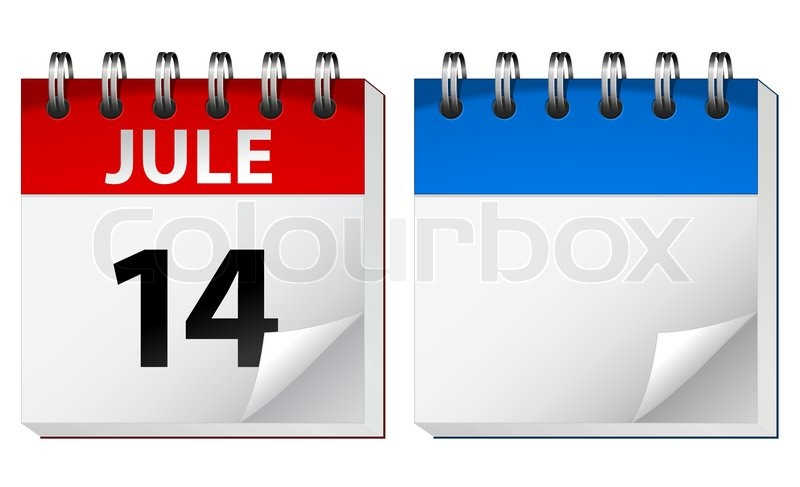 Blank Calendar By Month : Vector calendar stock colourbox