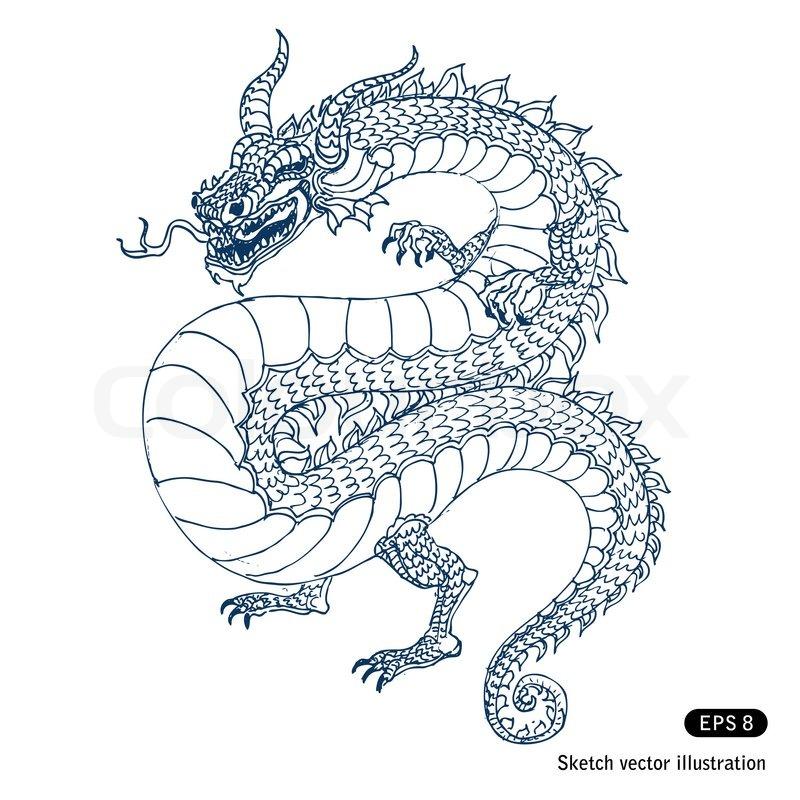 dragon stock vector colourbox