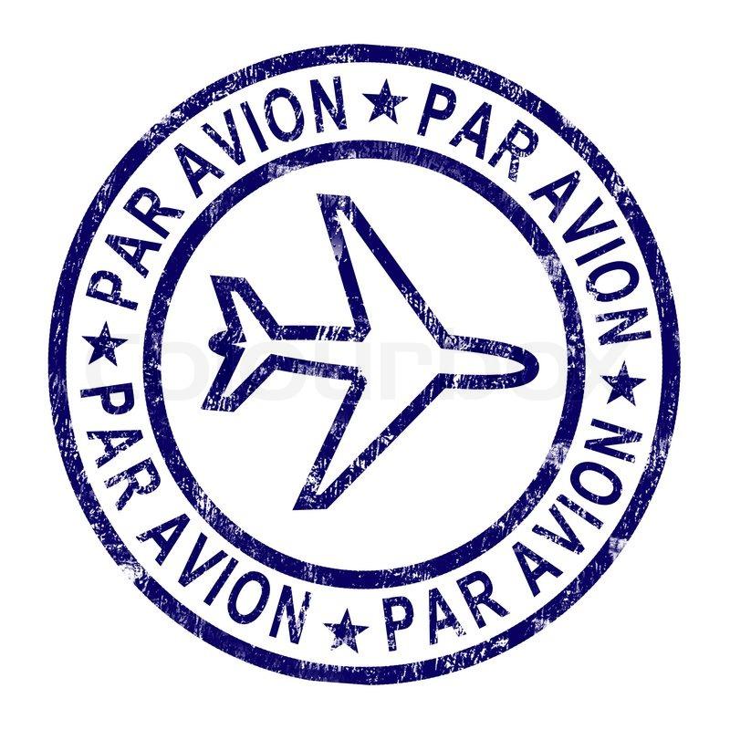 Par Avion Stamp Shows Correspondence ...