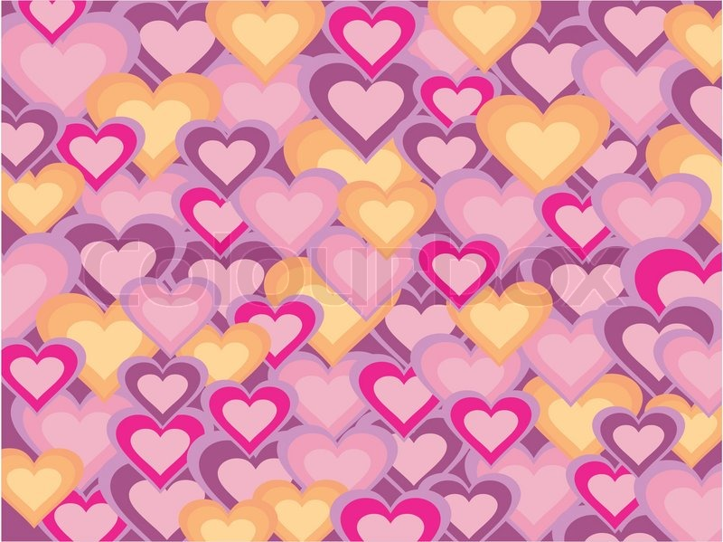Stock Vector Of Colorful Heart Shapes Backgroundtexturewallpaper