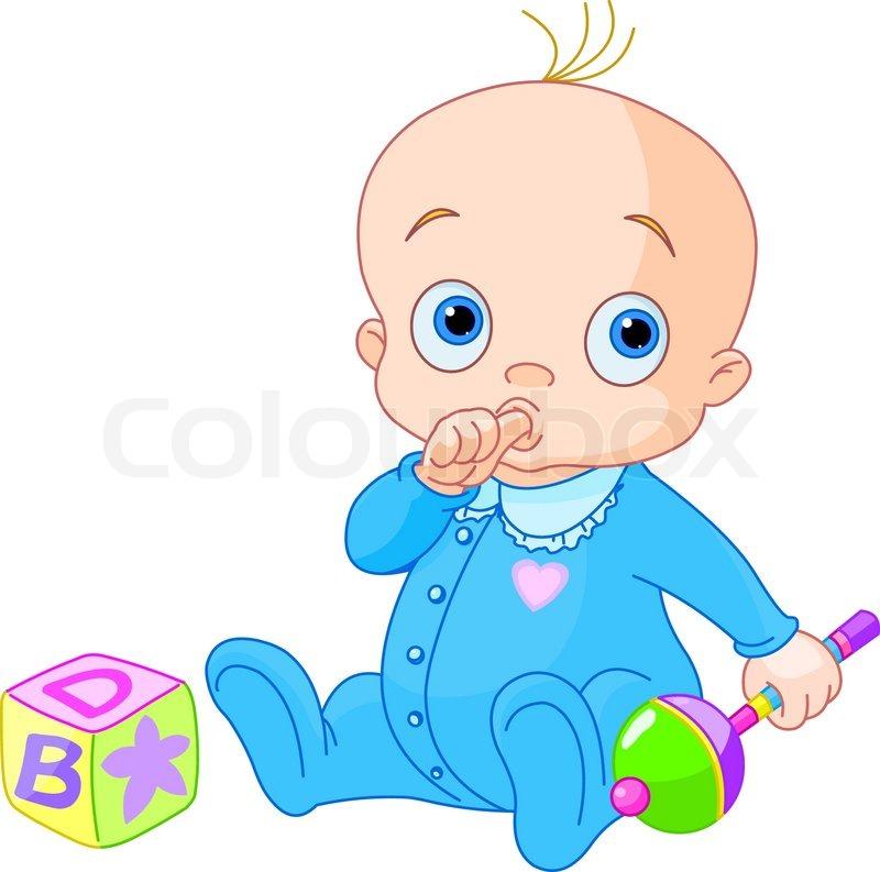 sweet baby boy stock vector colourbox rh colourbox com vector baby silhouette vector baby graphics