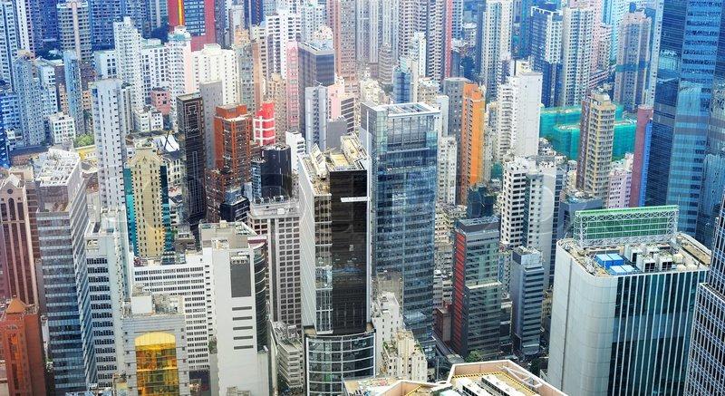 Hong Kong business district | Stock Photo | Colourbox