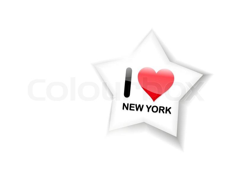 I Love New York Sign Stock Vector Colourbox