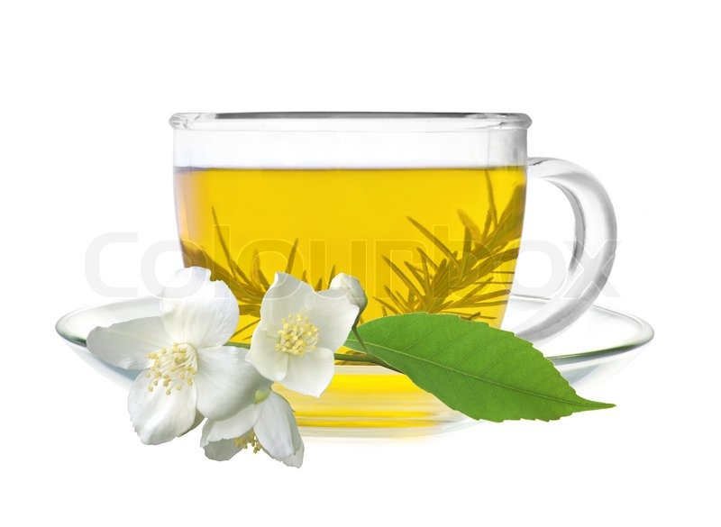 Jasmine Tea Flower Cup Of Green With