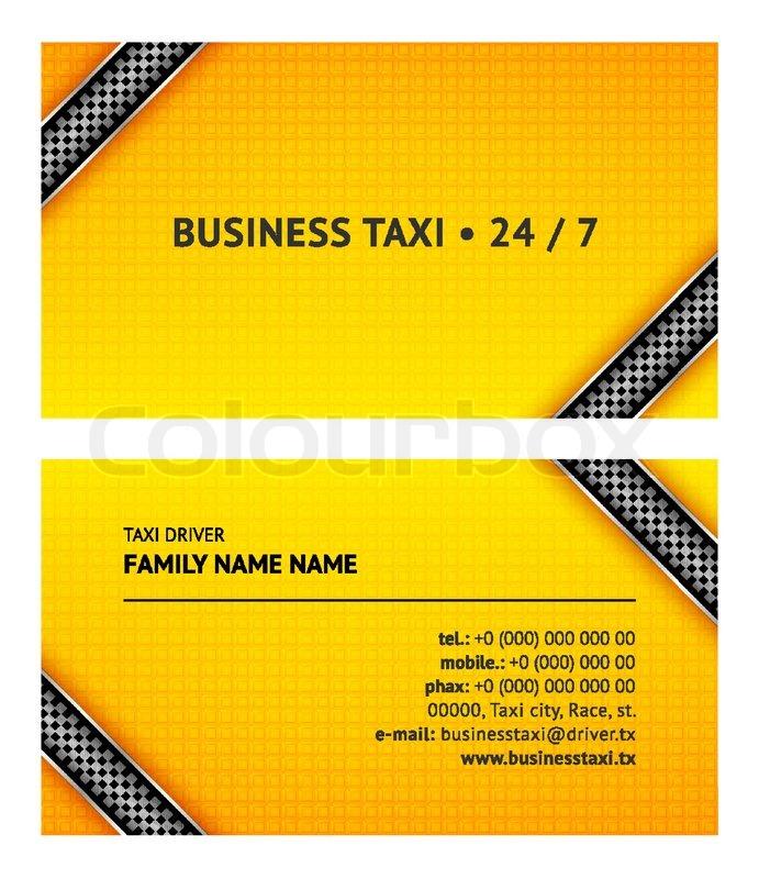 Business card taxi | Stock Vector | Colourbox
