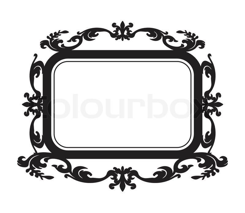 Old Portrait Frame IsolatedUseful As Picture Or Borderbaroque Style Label
