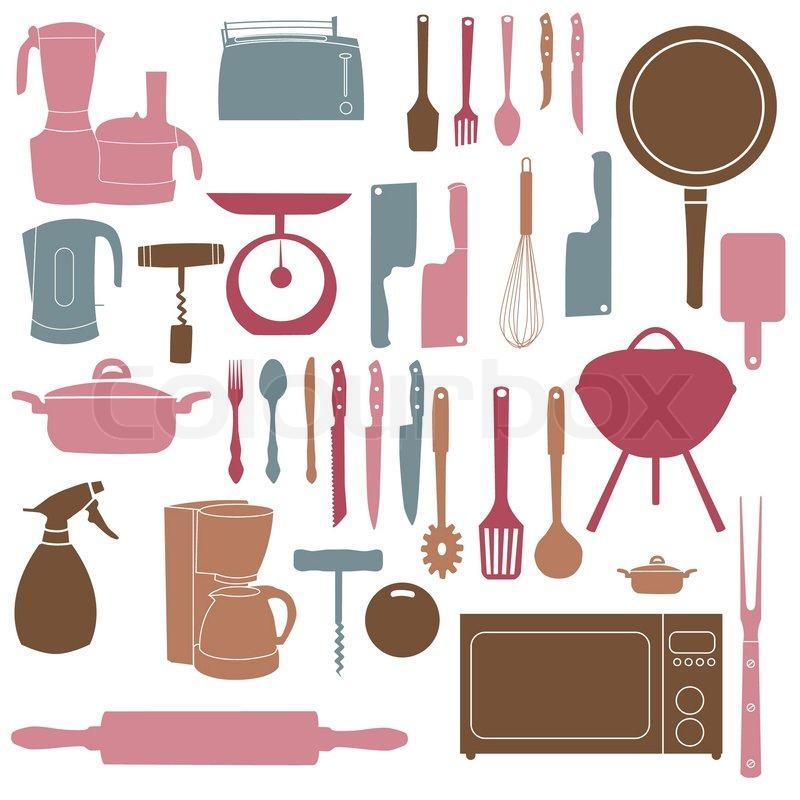 Vector of 'vector illustration of kitchen tools for cooking'