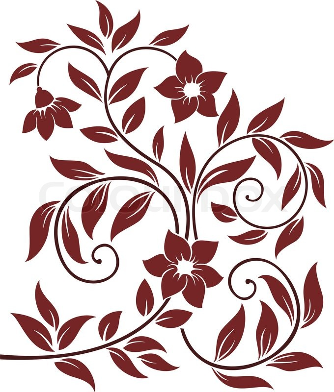 decorative floral background stock vector colourbox