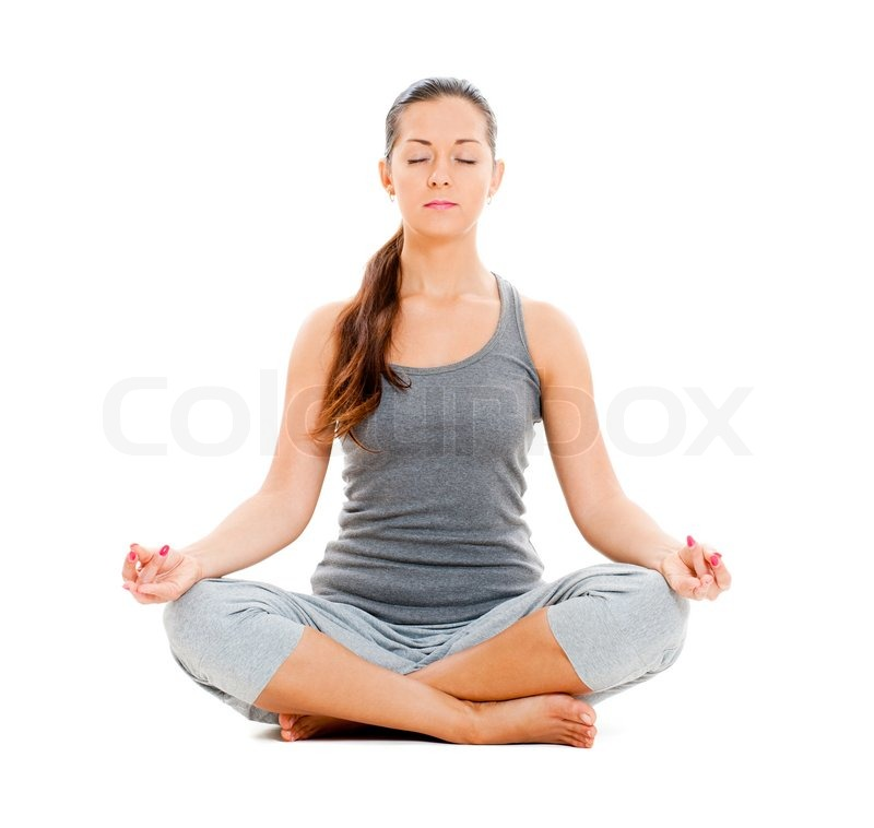 Pretty woman doing yoga exercise | Stock Photo