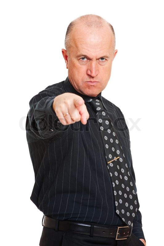 Angry Business Man  Stock Photo  Colourbox-8074