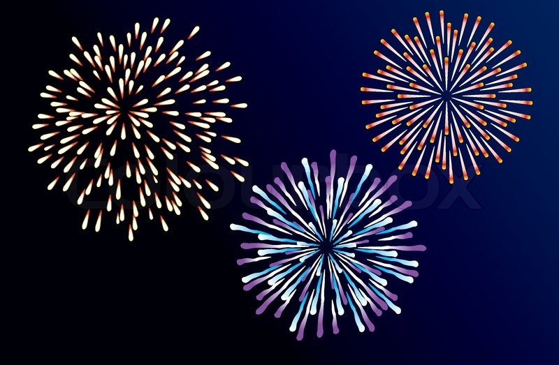 vector fireworks background stock vector colourbox rh colourbox com vector fireworks silhouette Cartoon Fireworks Clip Art