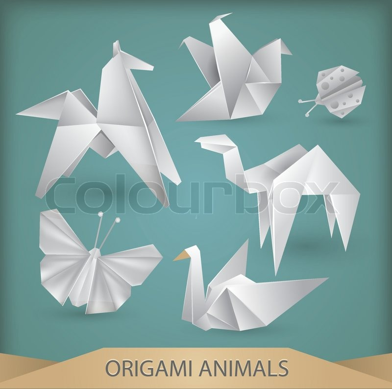 Origami Animals Vector Set Stock Vector Colourbox